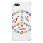 Hermanas del amor de la paz iPhone 5 funda
