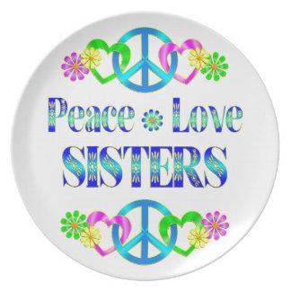 Hermanas del amor de la paz plato de cena