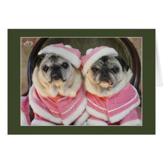 Hermanas del barro amasado en tarjetas de Navidad