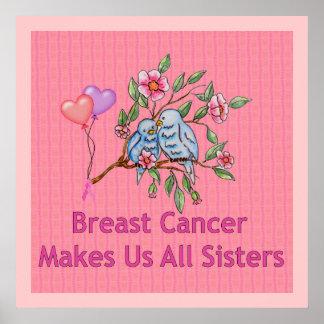 Hermanas del cáncer de pecho poster