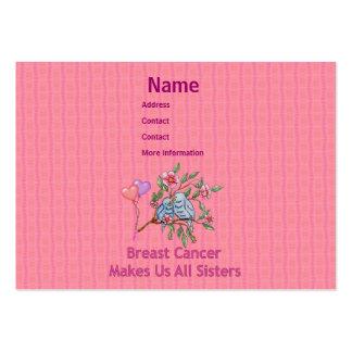 Hermanas del cáncer de pecho tarjetas de visita grandes