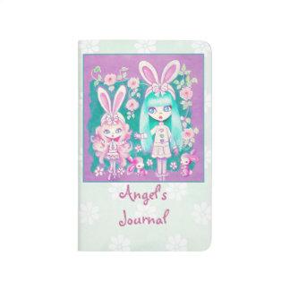 Hermanas del chica de conejito cuaderno