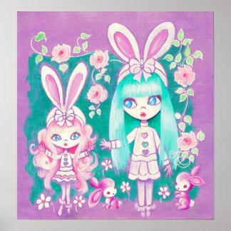 Hermanas del chica de conejito poster