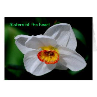Hermanas del corazón felicitacion