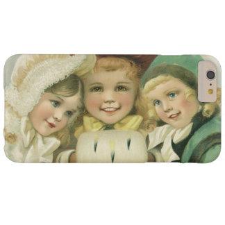 Hermanas del navidad del vintage, niños del funda para iPhone 6 plus barely there