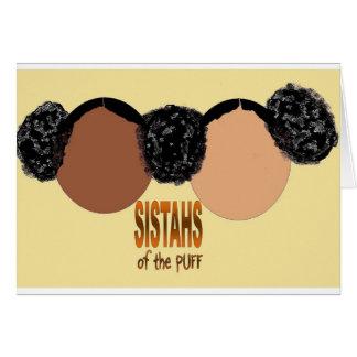 Hermanas del soplo tarjeta de felicitación