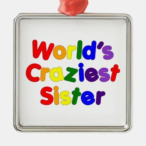 Hermanas divertidas de la diversión: La hermana má Adorno De Navidad