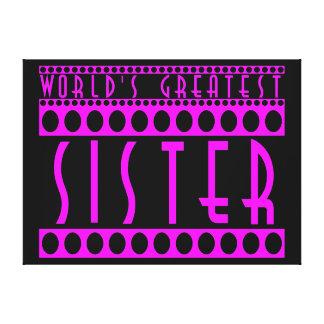 Hermanas elegantes elegantes La hermana más grand Lona Envuelta Para Galerías