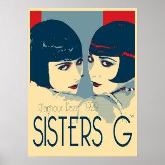 Hermanas G - poster de la moda de los años 20