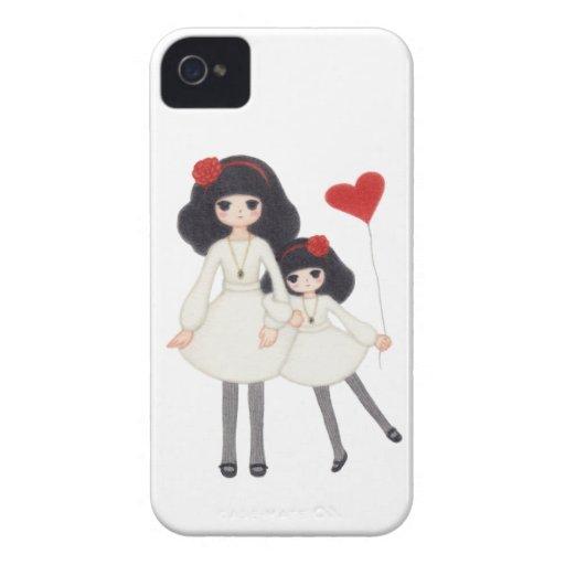 ¡Hermanas - para siempre amigos! Carcasa Para iPhone 4