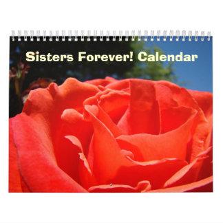 ¡Hermanas para siempre Flores grandes florales de