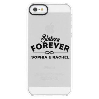 Hermanas para siempre funda clearly™ deflector para iPhone 5 de uncommon
