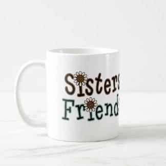 Hermanas y amigos tazas de café