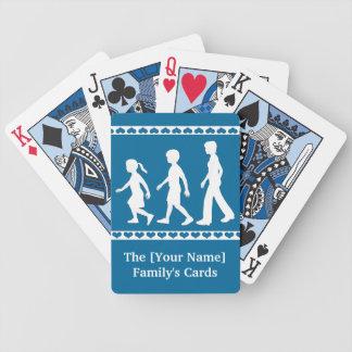Hermanas y Brother: Siluetas del hermano Baraja Cartas De Poker