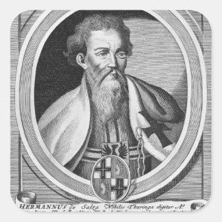Hermann de Salza Calcomanía Cuadradase