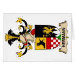 Hermann Family Crest Greeting Card