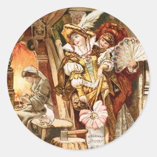 Hermann Vogel - Cinderella Classic Round Sticker