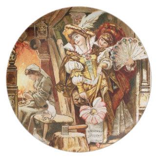 Hermann Vogel - Cinderella Melamine Plate
