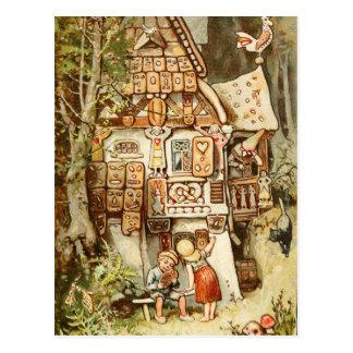 Hermann Vogel - Hansel y Grethel Tarjeta Postal