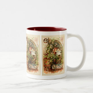 Hermann Vogel - Sleeping Beauty Two-Tone Coffee Mug