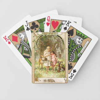 Hermann Vogel - Snow White and Rose Red Bicycle Playing Cards