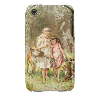Hermann Vogel - Snow White and Rose Red Case-Mate iPhone 3 Case