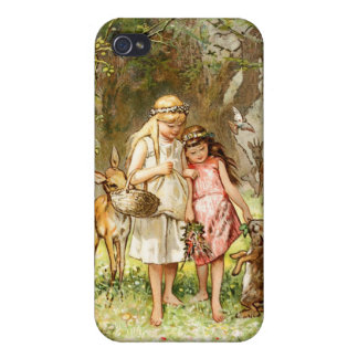 Hermann Vogel - Snow White and Rose Red Cases For iPhone 4