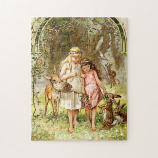 Hermann Vogel - Snow White and Rose Red Jigsaw Puzzle