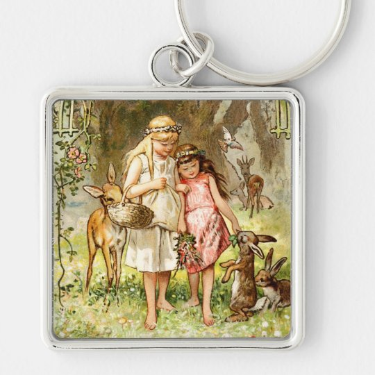 Hermann Vogel - Snow White and Rose Red Keychain