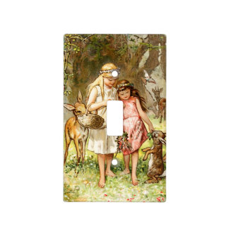 Hermann Vogel: Snow White and Rose Red Light Switch Cover