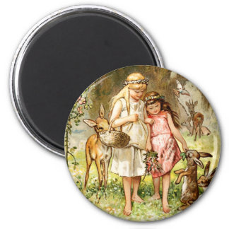Hermann Vogel - Snow White and Rose Red Fridge Magnet