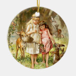 Hermann Vogel - Snow White and Rose Red Ornament