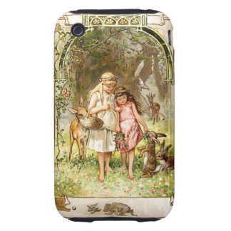 Hermann Vogel - Snow White and Rose Red Tough iPhone 3 Case