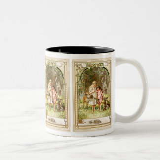 Hermann Vogel - Snow White and Rose Red Two-Tone Coffee Mug
