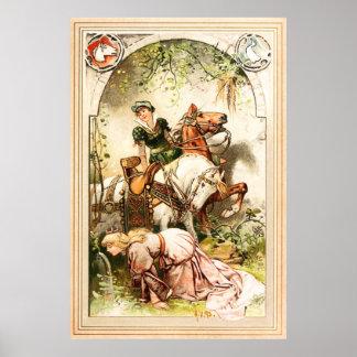 Hermann Vogel - The Goose Girl Poster