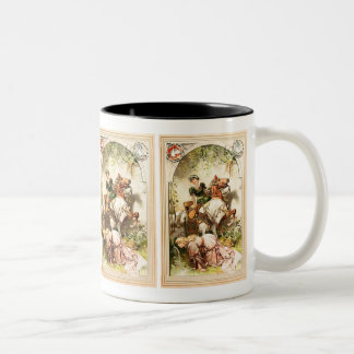 Hermann Vogel - The Goose Girl Two-Tone Coffee Mug