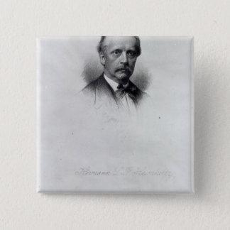 Hermann von Helmholtz, engraved by C.H Jeens Pinback Button