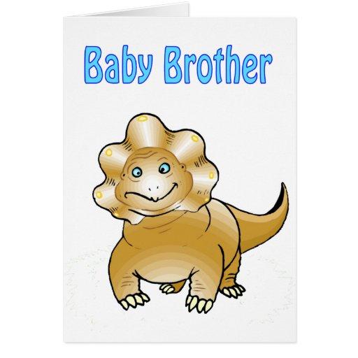 hermano del bebé del dinosaurio tarjeta de felicitación