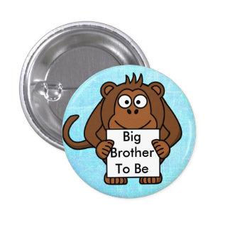 Hermano mayor a ser botón de la fiesta de pin redondo de 1 pulgada