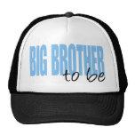 Hermano mayor a ser (fuente azul del bloque) gorro de camionero