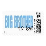 Hermano mayor a ser (fuente azul del bloque) sellos