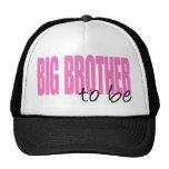 Hermano mayor a ser (fuente rosada del bloque) gorra