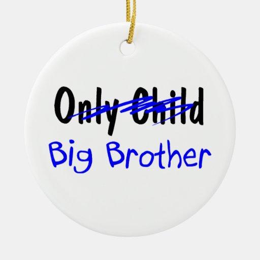 Hermano mayor adorno navideño redondo de cerámica