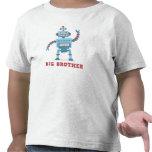 Hermano mayor androide del dibujo animado retro li camiseta