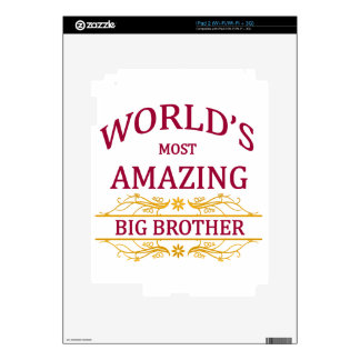 Hermano mayor asombroso iPad 2 calcomanía