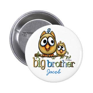 Hermano mayor - búhos de Bro del bebé Pin Redondo De 2 Pulgadas