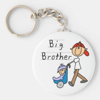 Hermano mayor con pequeño Brother Llavero Redondo Tipo Pin