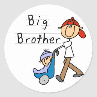 Hermano mayor con pequeño Brother Pegatina Redonda