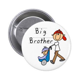 Hermano mayor con pequeño Brother Pin Redondo 5 Cm