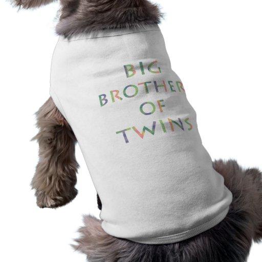 Hermano mayor de los gemelos - perros camisetas de perro